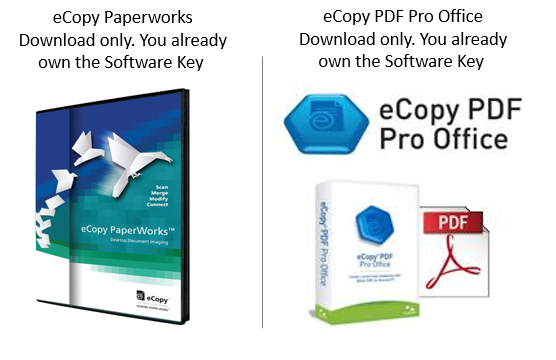 eCopy Software downloads only